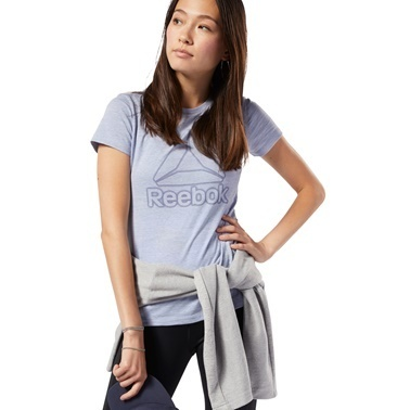Reebok Marble Logo Kadın Gri Antrenman Tişört Ec2323 Renkli